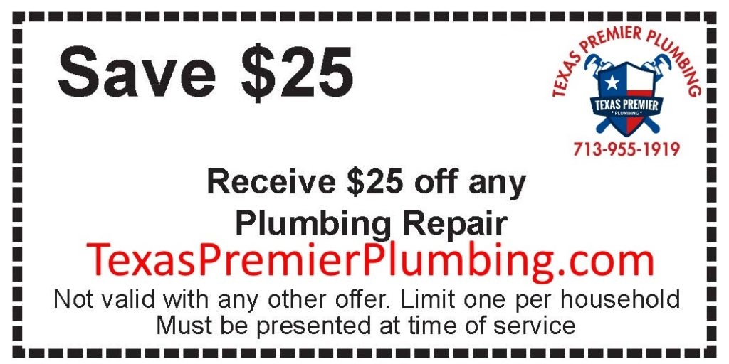 Save $25 Off Any Plumbing repair offered by Texas Premier Plumbing